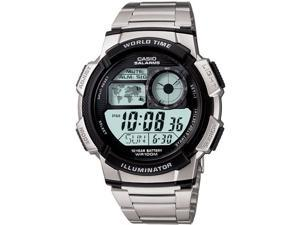 Casio Illuminator World Time Digital Grey Dial Men's watch #AE1000WD-1AV