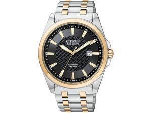 Citizen Eco-Drive WR100 Sapphire Glass Black Dial Men's watch #BM7106-52E