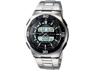 Mns Ana Digi Active Dial Watch SS Brclt w/Blk Dial - Mens