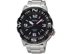 Seiko SRP445 Automatic Stainless Steel Case and Bracelet Black Tone Dial Date Display