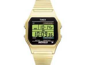 Timex Digital Men's Watch - Digital Classics | Gold-Tone Case & Expansion Band