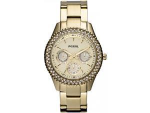 Fossil Stella Gold Dial Gold-tone Steel Ladies Watch ES3101