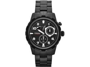 Fossil Dean Automatic Black Dial Black PVD Steel Automatic Mens Watch ME3040