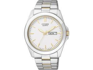 Men's Two-Tone Citizen Day And Date Steel Watch BF0584-56A