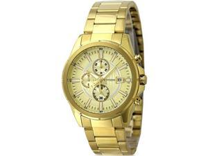 Men's Gold Citizen Chronograph Stainless Steel Watch AN3562-56P
