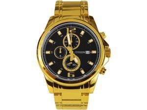 Men's Gold Citizen Chronograph Steel Watch AN3552-50E