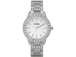 Fossil ES2362 Glitz White Dial Stainless Steel Ladies Watch