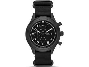 Men's Black Fossil Compass Chronograph Watch JR1454