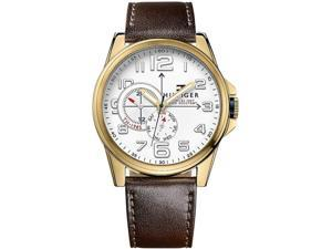 Mens Tommy Hilfiger Frederick Leather Band Watch 1791003