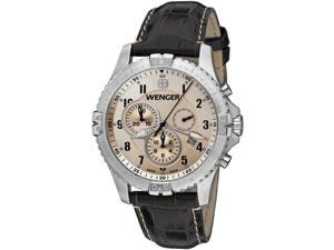 Men's Wenger Squadron Chronograph Leather Band Watch 77052