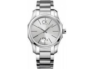 Calvin Klein Men's Biz K7741126 Stainless-Steel Quartz Watch with Silver Dial