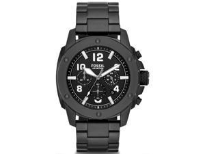 Men's Black Fossil Modern Machine Chronograph Steel Watch FS4927