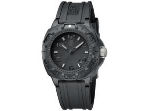 Luminox Blackout Black Dial and Rubber Strap Mens Watch 0201.BO