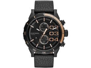 Men's Black Diesel Double Down 48 Chronograph Watch DZ4327