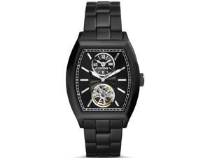 Men's Black Fossil Narrator Automatic Stainless Steel Watch ME3050