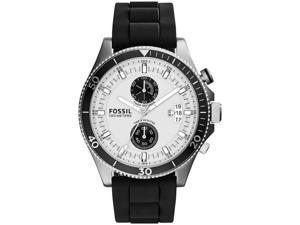 Men's Fossil Wakefield Chronograph Silicone Strap Watch CH2933