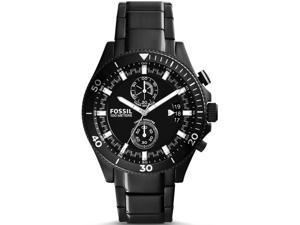 Men's Black Fossil Wakefield Chronograph Steel Watch CH2936