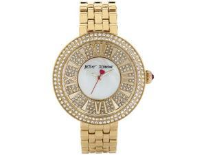 Women's Gold Betsey Johnson Crystallized Watch BJ00343-02