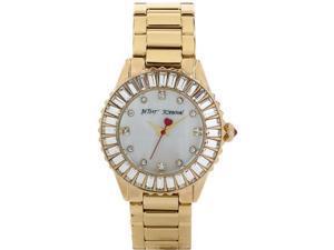 Women's Gold Betsey Johnson Baugette Crystal Watch BJ00247-08