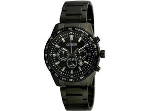 Men's Black Citizen Chronograph Stainless Steel Watch AN8075-50E