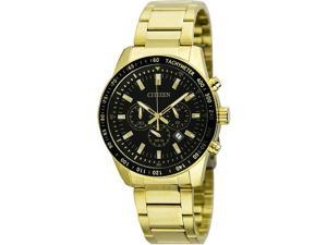 Men's Gold Citizen Chronograph Stainless Steel Watch AN8072-58E