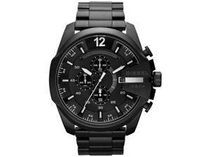 Men's Black Diesel Mega Chief XL Chronograph Watch DZ4283
