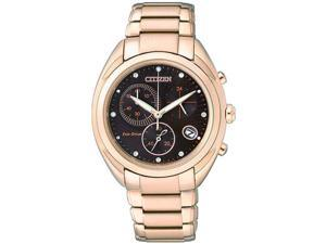 Women's Rose Gold-Tone Citizen Eco-Drive Chronograph Watch FB1395-50W