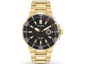 Gold-Tone Citizen Eco-Drive Endeavor Diver's Sport Watch AW1422-50E