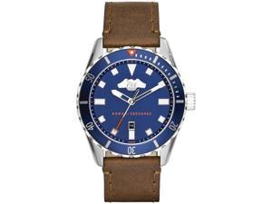Men's Armani Exchange Covert Brown Leather Strap Watch AX1706