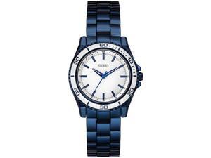 Women's Blue Guess Stainless Steel Sport Watch U0557L3