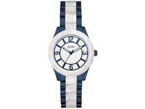 Women's Blue Guess Stainless Steel Watch U0074L3