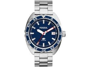 Men's Fossil Breaker Diver's Stainless Steel Watch FS5048