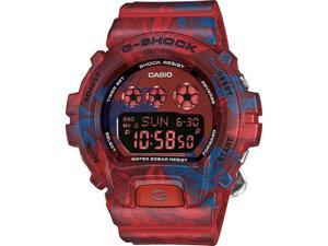 Women's Red Floral Print Casio G-Shock S Series Watch GMDS6900F-4