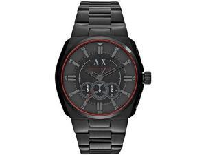 Men's Black Armani Exchange Chronograph Steel Watch AX1801