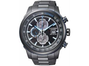 Men's Black Citizen Eco-Drive Chronograph Watch CA0576-59E