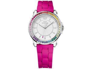 Womens Juicy Couture Pedigree Silicone Band Watch 1901277