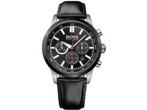 Men's Hugo Boss Racing Chronograph Leather Strap Watch 1513191