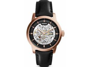 Fossil Men's ME3084 Black Leather Automatic Watch