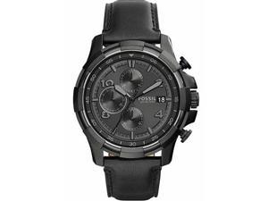 Men's Fossil Dean Black Chronograph Watch FS5133