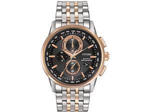 Men's Citizen Eco-Drive World Chronograph A-T Atomic Watch AT8116-57E