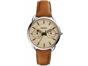 Women's Fossil Tailor Multifunction Leather Band Watch ES3950