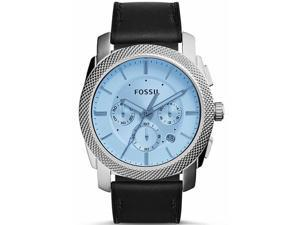 Men's Fossil Machine Chronograph Blue Tinted Dial Watch FS5160