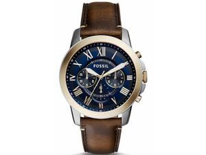 Men's Fossil Grant Chronograph Blue Dial Watch FS5150