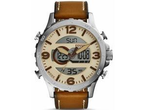 Men's Fossil Nate Analog-Digital Leather Watch JR1506