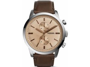 Men's Fossil Townsman Chronograph Leather Band Watch FS5156
