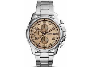 Men's Fossil Dean Chronograph Beige Tinted Dial Watch FS5163