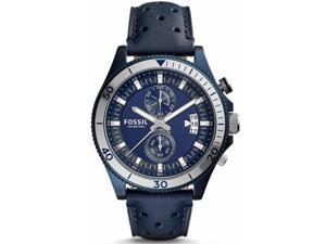 Men's Fossil Wakefield Chronograph Blue Leather Watch CH3012