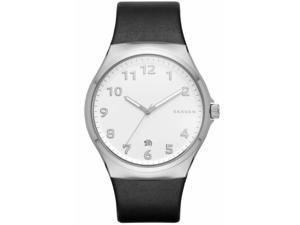 Men's Skagen Sundby Black Leather Watch SKW6268