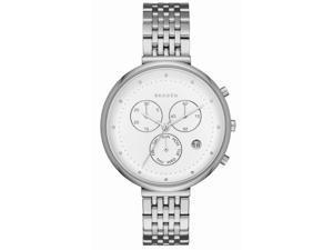 Women's Skagen Gitte Chronograph Steel Link Watch SKW2419