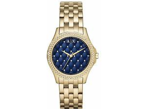 Women's Armani Exchange Lady Hampton Quilted Face Crystalized Watch AX5247